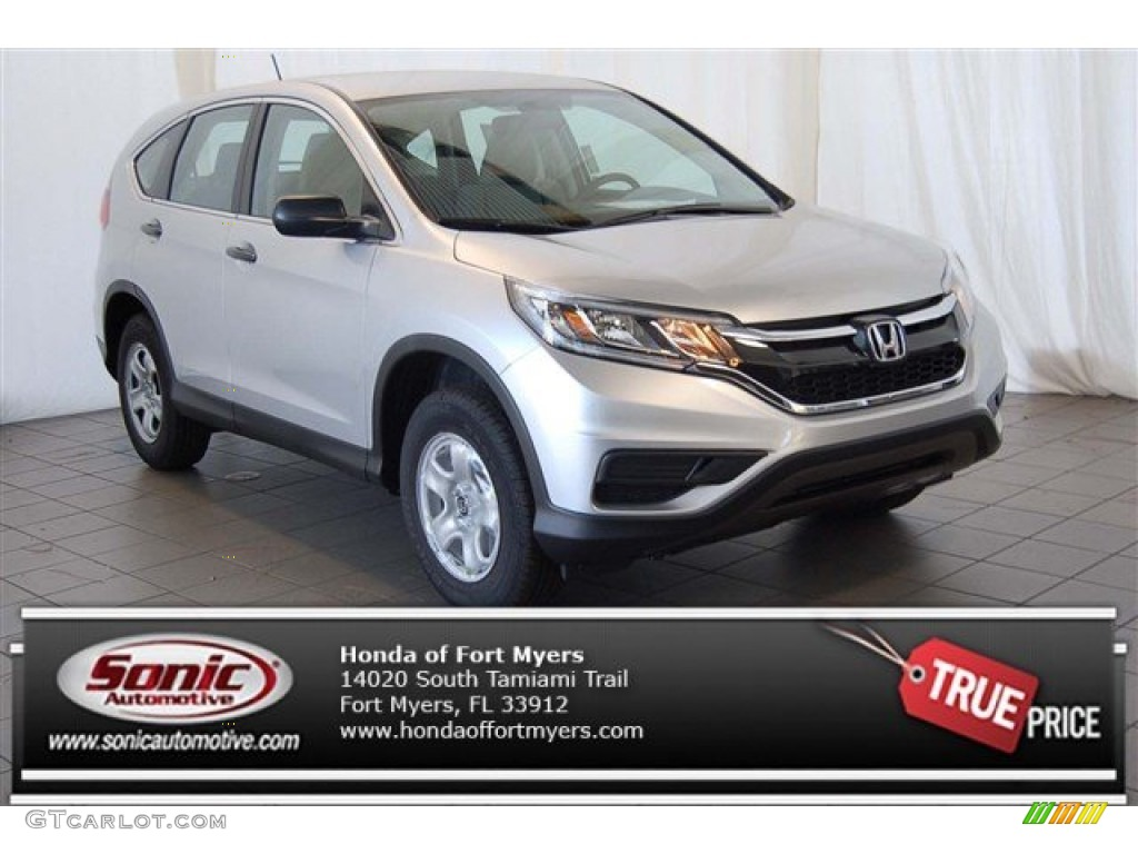 2015 CR-V LX - Alabaster Silver Metallic / Gray photo #1