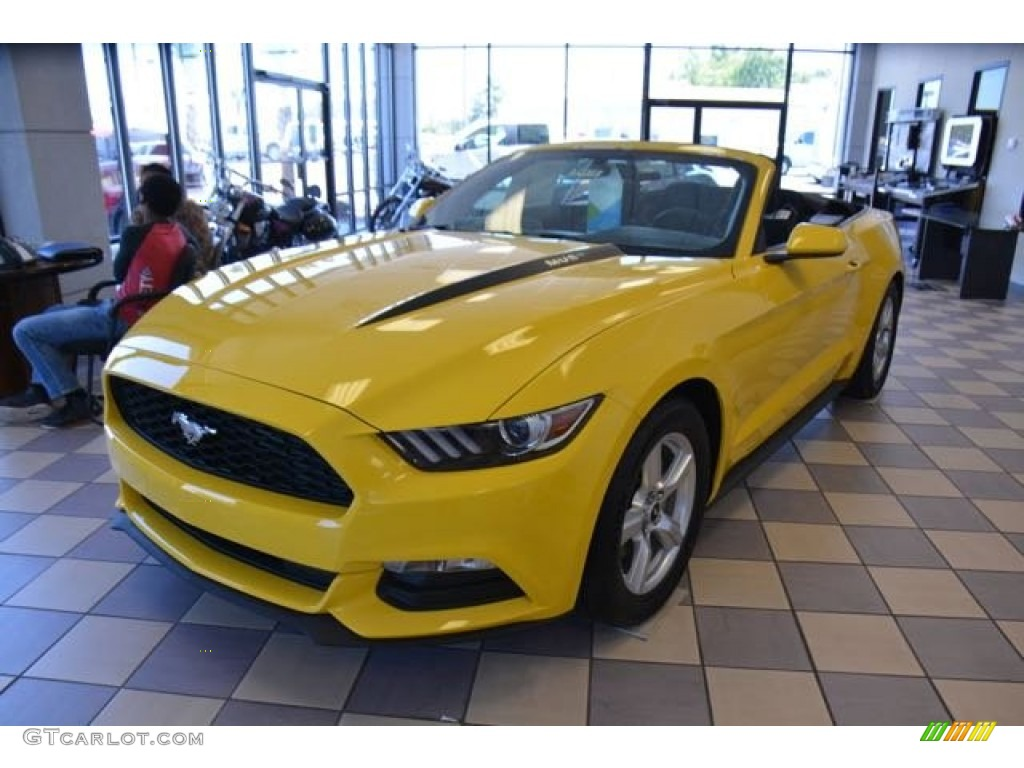 2015 triple yellow tricoat ford mustang v6 convertible 103460670 car color. Black Bedroom Furniture Sets. Home Design Ideas