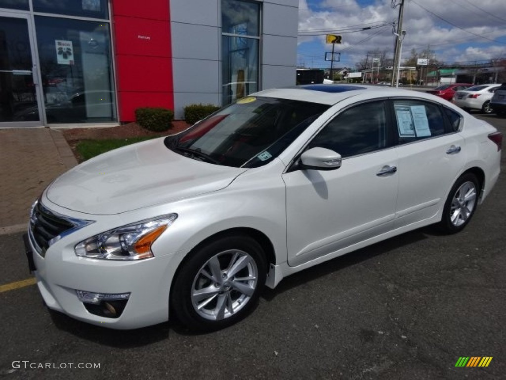 2015 pearl white nissan altima 2 5 sv 103483934 car color galleries. Black Bedroom Furniture Sets. Home Design Ideas