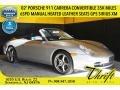 Arctic Silver Metallic 2002 Porsche 911 Carrera Cabriolet