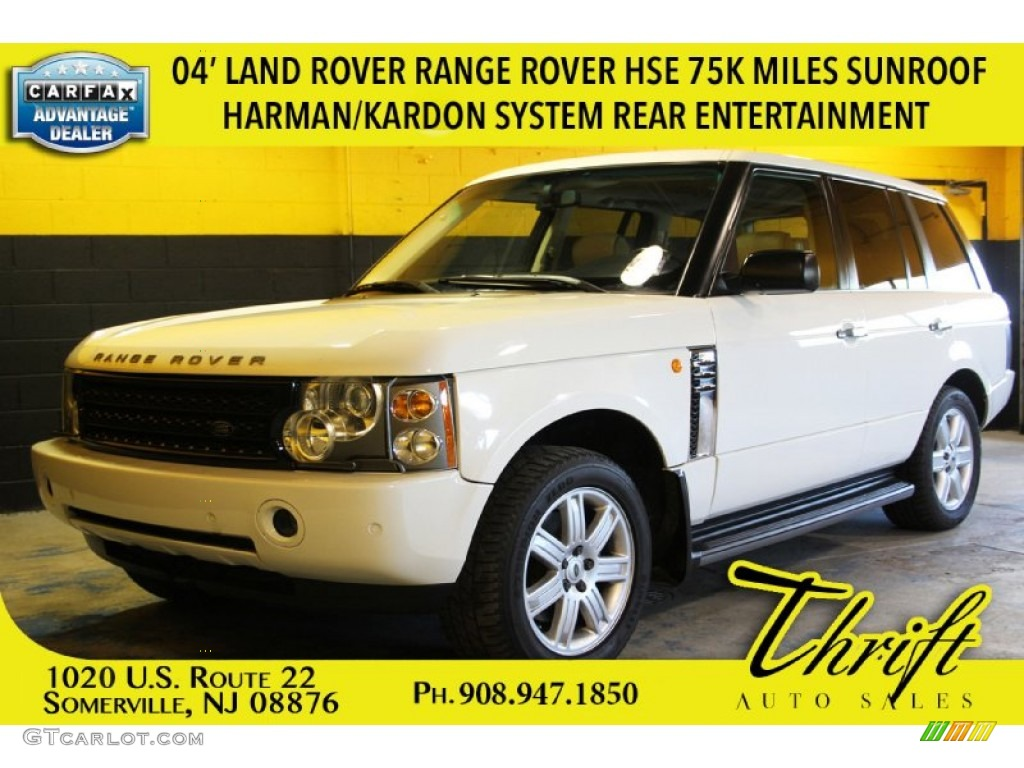 2004 Range Rover HSE - Chawton White / Ivory/Aspen photo #1