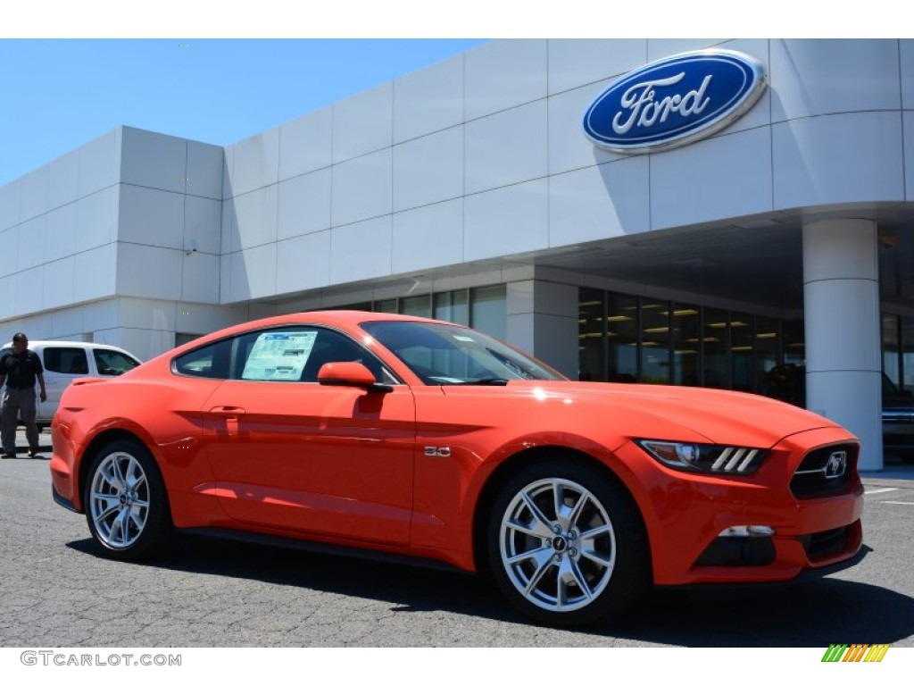 Orange 2015 Mustang >> 2015 Competition Orange Ford Mustang Gt Premium Coupe 103483816