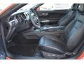 2015 Ford Mustang 50 Years Raven Black Interior Interior Photo