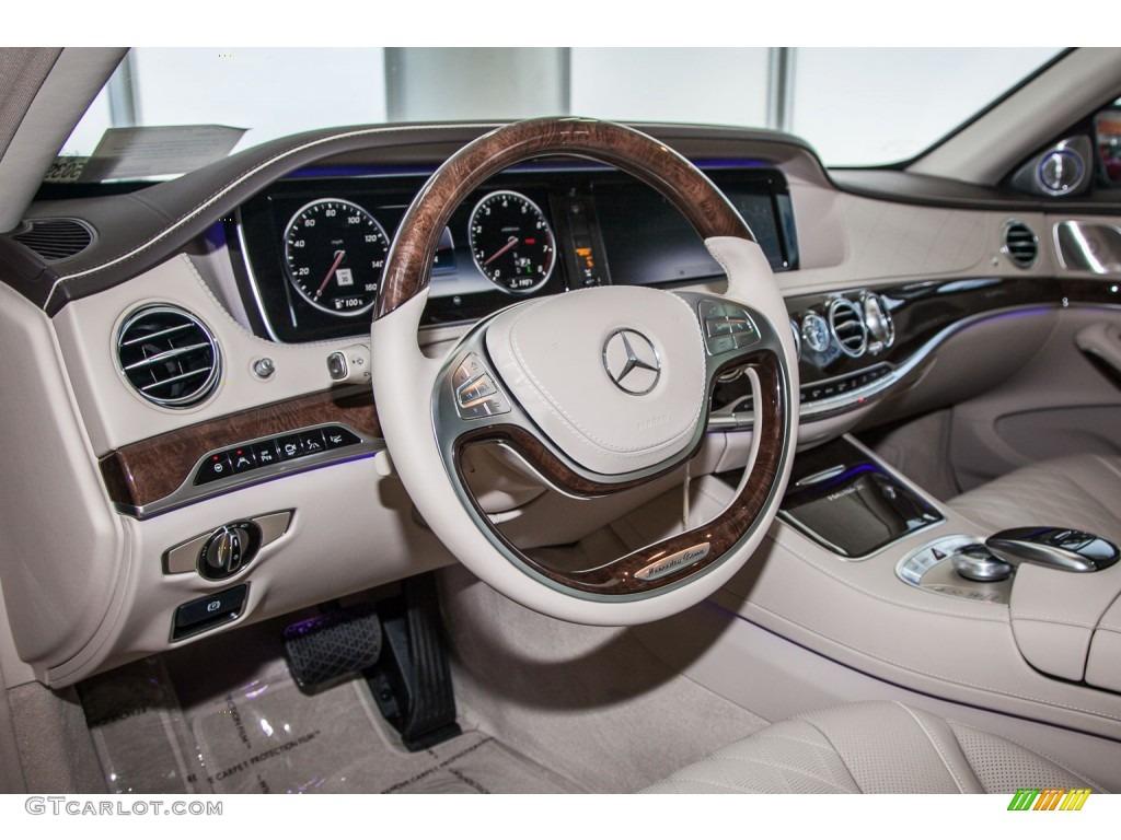 Silk Beige Espresso Brown Interior 2016 Mercedes Benz S