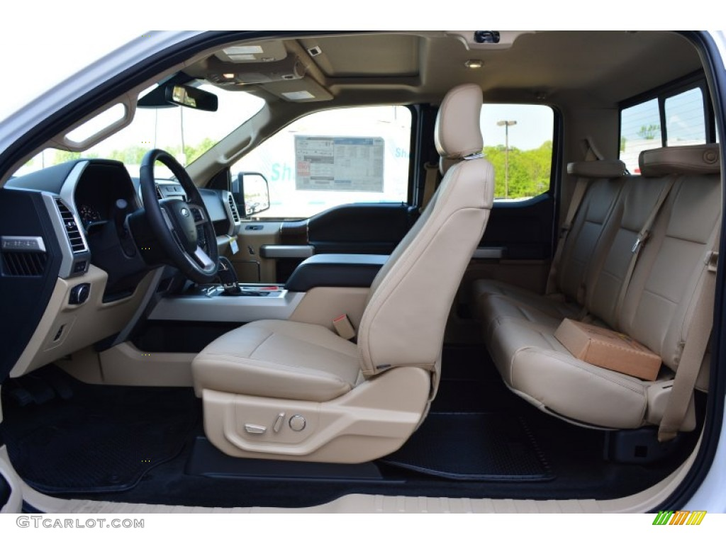 Medium Light Camel Interior 2015 Ford F150 Lariat Supercab