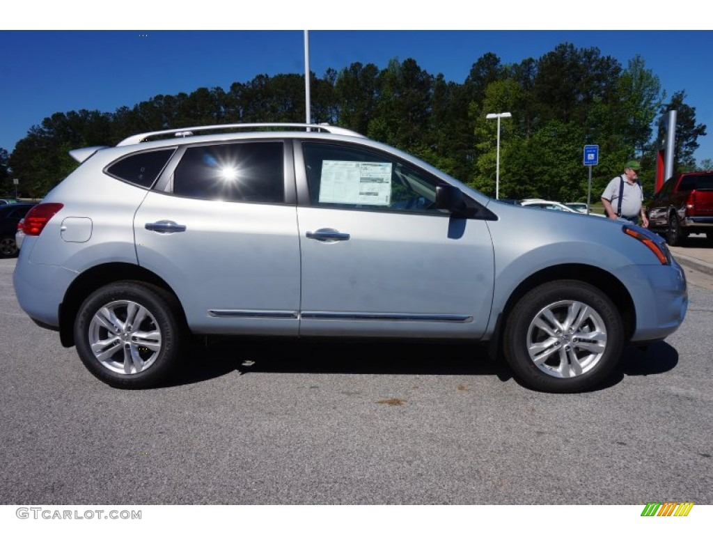 Frosted Steel 2015 Nissan Rogue Select S Exterior Photo 103600154