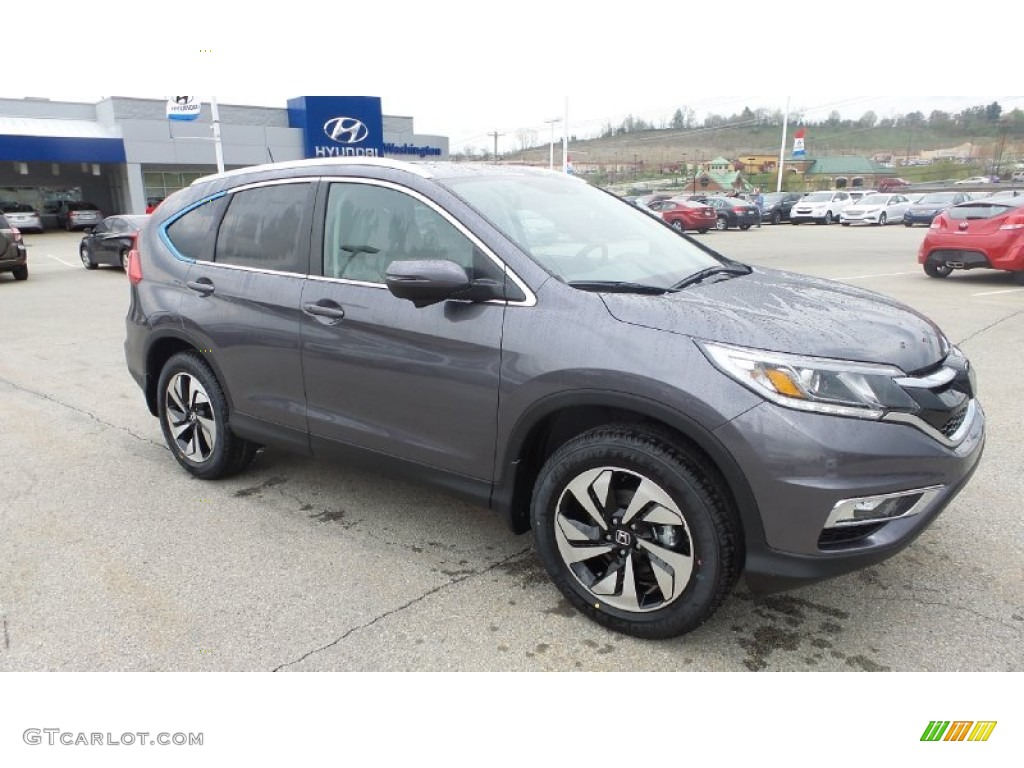 2015 CR-V Touring AWD - Modern Steel Metallic / Gray photo #1