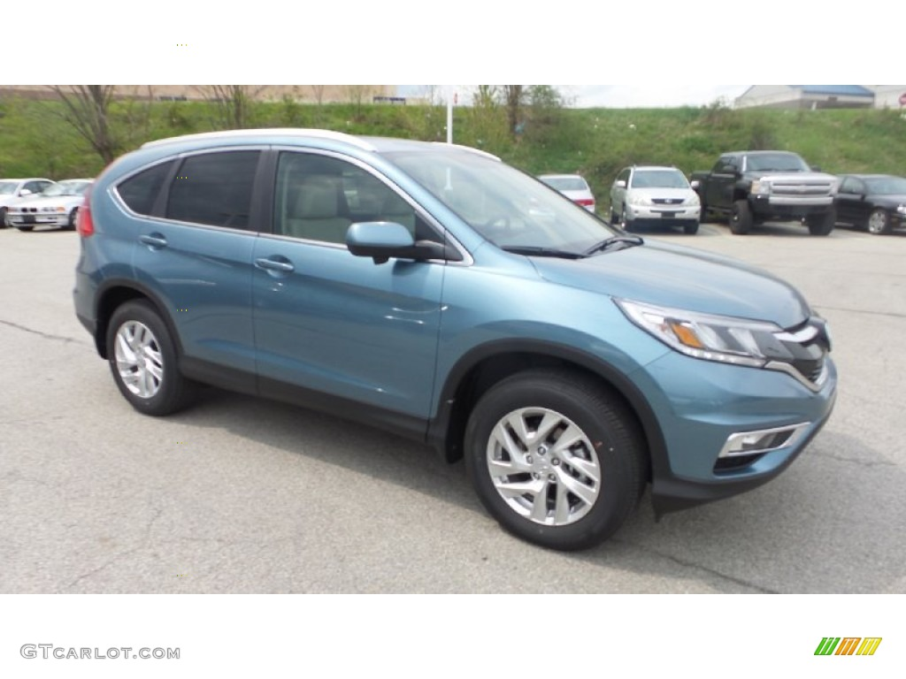 2015 CR-V LX AWD - Mountain Air Metallic / Gray photo #1
