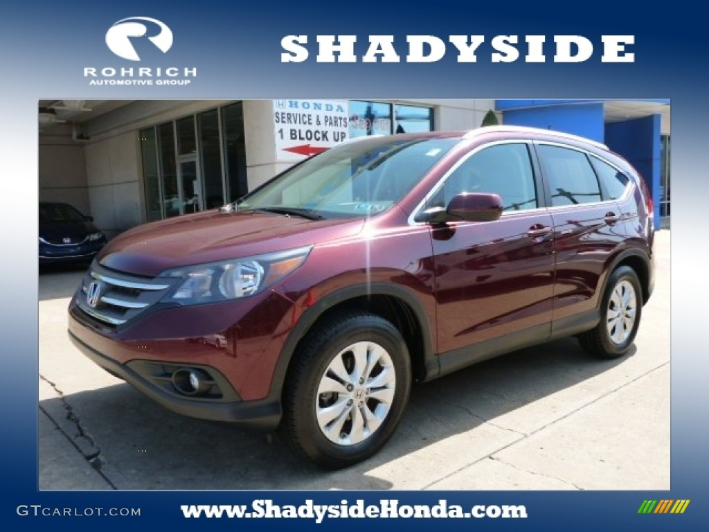 2012 CR-V EX-L 4WD - Basque Red Pearl II / Beige photo #1