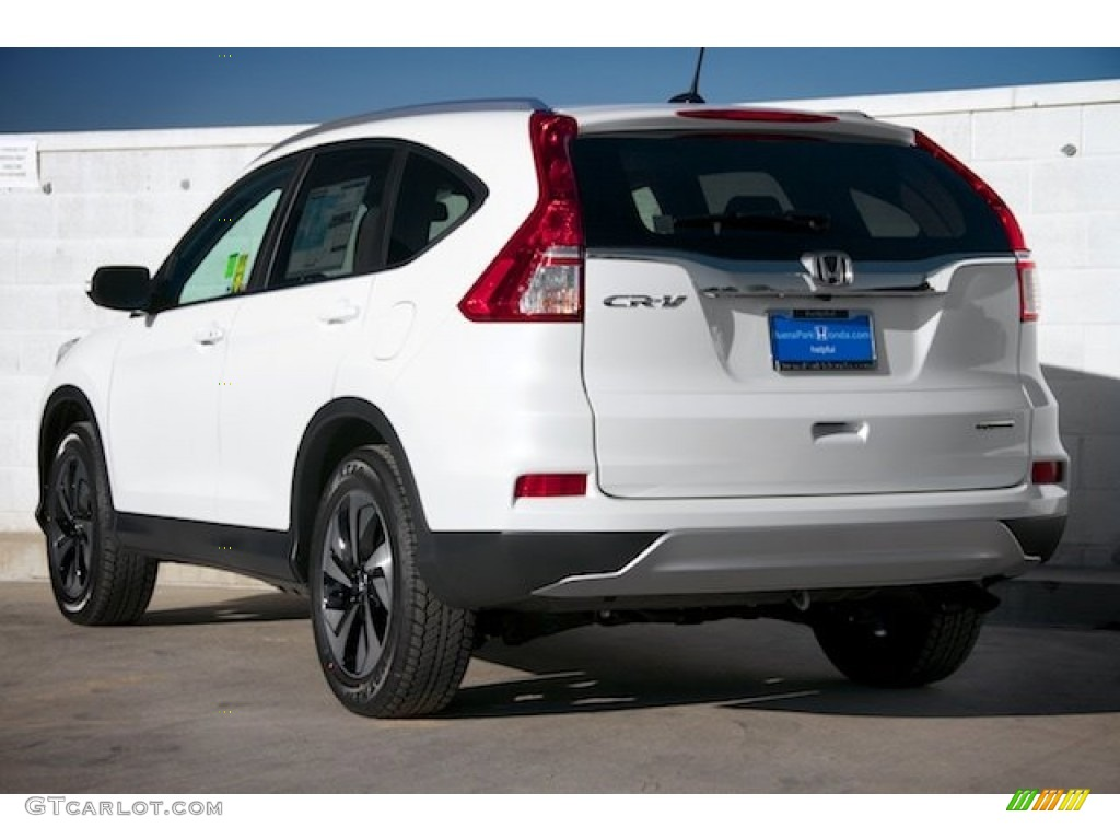 2015 CR-V Touring - White Diamond Pearl / Black photo #2