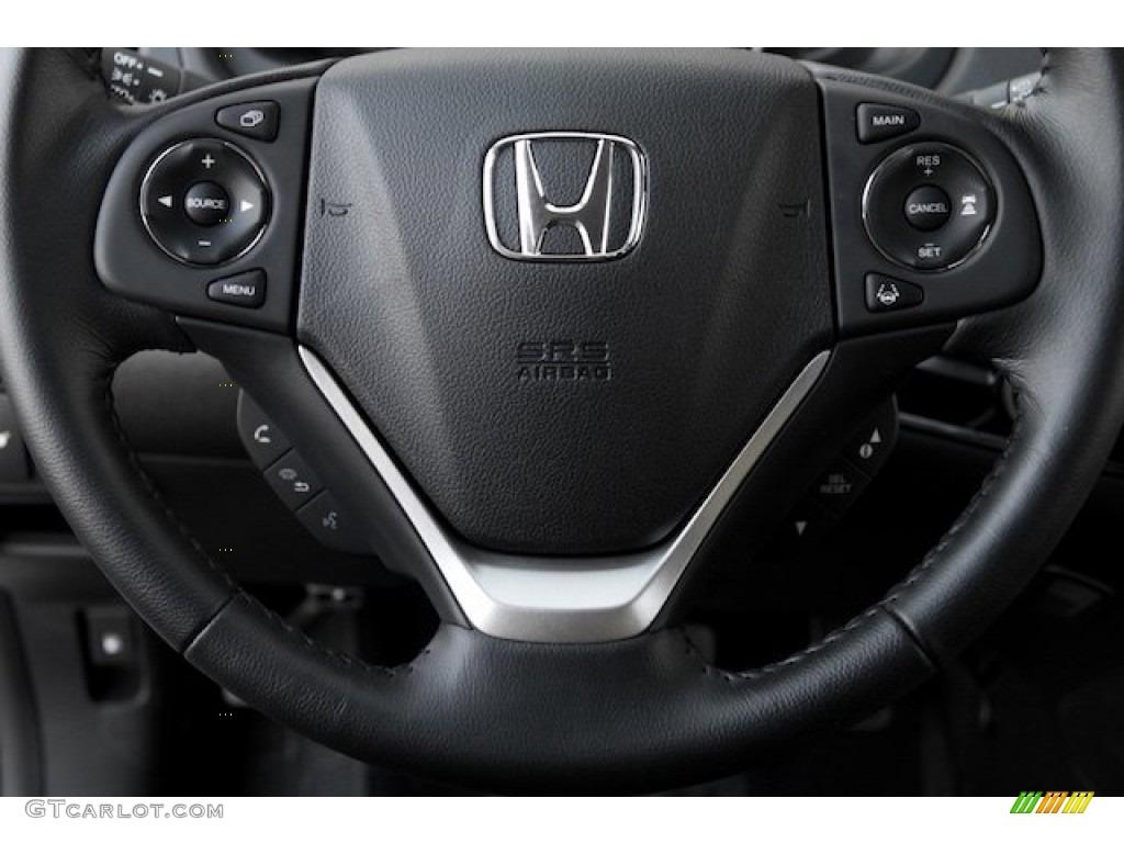 2015 CR-V Touring - White Diamond Pearl / Black photo #11