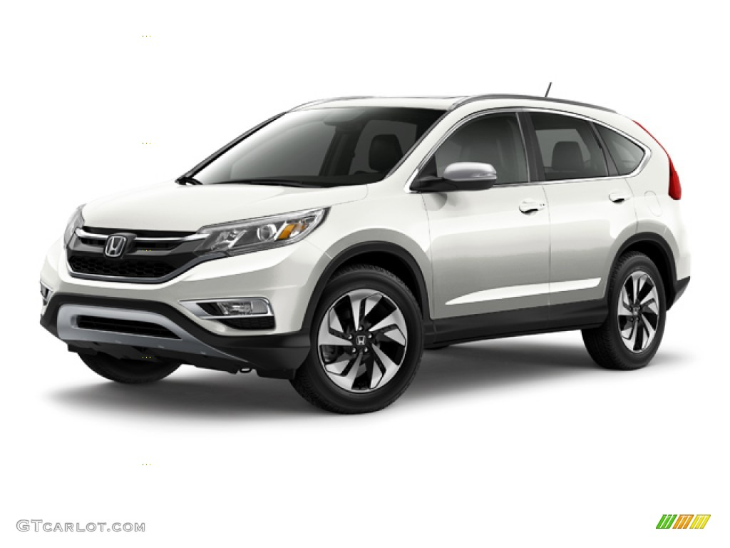 2015 CR-V Touring - White Diamond Pearl / Black photo #23