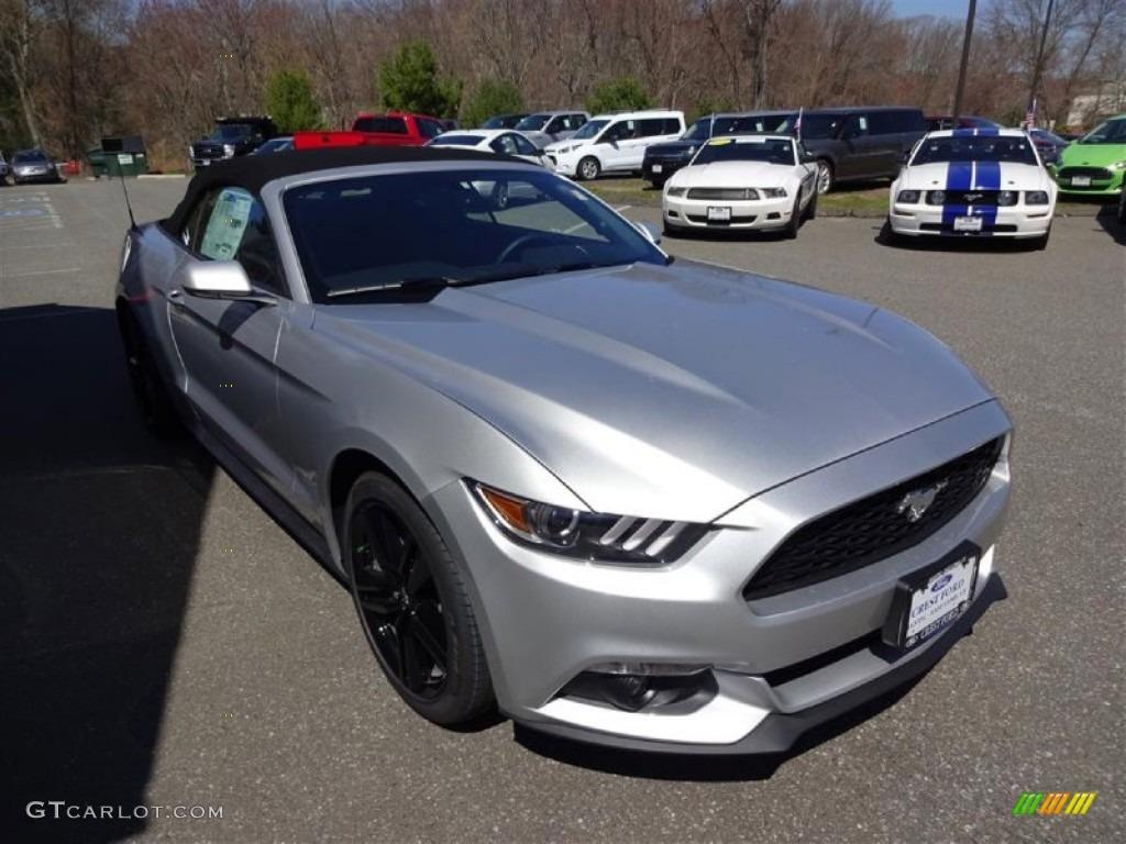 2015 ingot silver metallic ford mustang ecoboost premium convertible