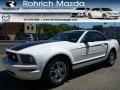 Performance White 2007 Ford Mustang V6 Deluxe Convertible