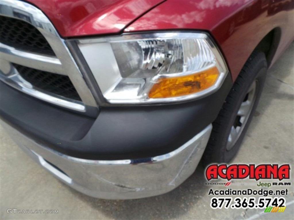 2012 Ram 1500 ST Quad Cab - Deep Molten Red Pearl / Dark Slate Gray/Medium Graystone photo #2