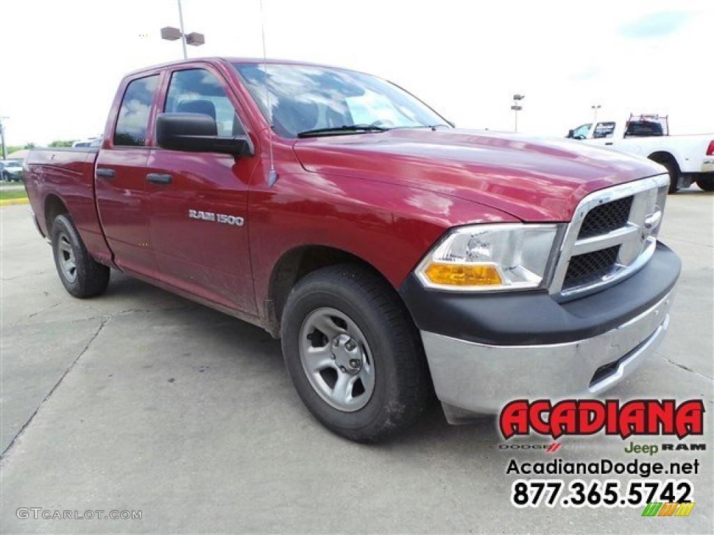 2012 Ram 1500 ST Quad Cab - Deep Molten Red Pearl / Dark Slate Gray/Medium Graystone photo #11