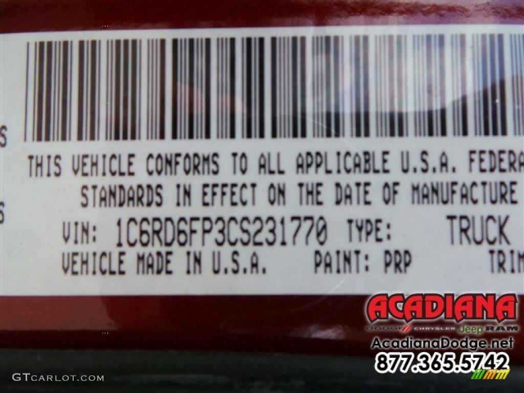 2012 Ram 1500 ST Quad Cab - Deep Molten Red Pearl / Dark Slate Gray/Medium Graystone photo #16