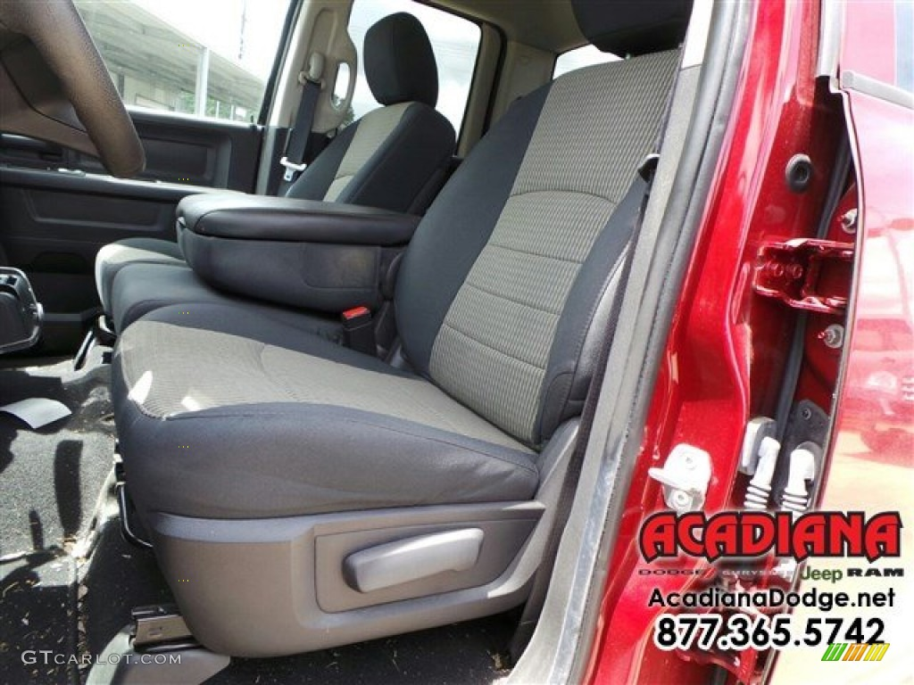 2012 Ram 1500 ST Quad Cab - Deep Molten Red Pearl / Dark Slate Gray/Medium Graystone photo #18