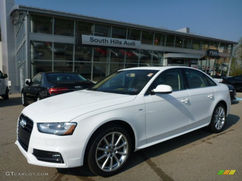 2015 ibis white audi a4 2 0t premium plus quattro. Black Bedroom Furniture Sets. Home Design Ideas