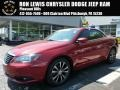 Deep Cherry Red Crystal Pearl Coat 2012 Chrysler 200 S Hard Top Convertible