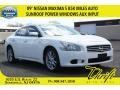 Winter Frost White 2009 Nissan Maxima 3.5 S