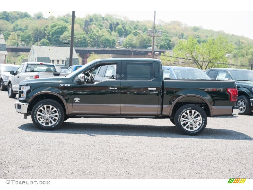2015 Green Gem Metallic Ford F150 King Ranch Supercrew 4x4