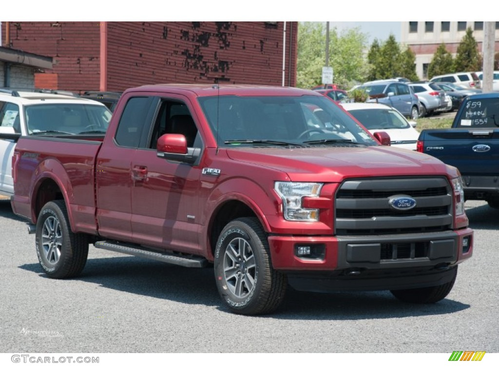 2015 ruby red metallic ford f150 lariat supercab 4x4 103784251 car color galleries. Black Bedroom Furniture Sets. Home Design Ideas