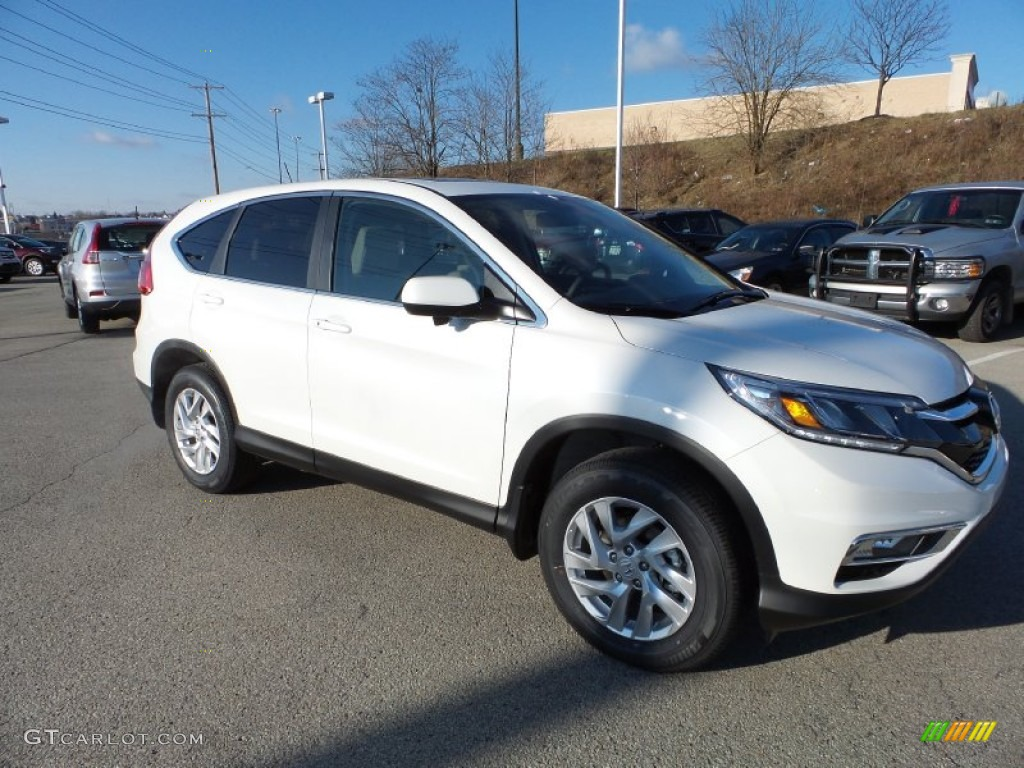 2015 CR-V EX - White Diamond Pearl / Beige photo #1
