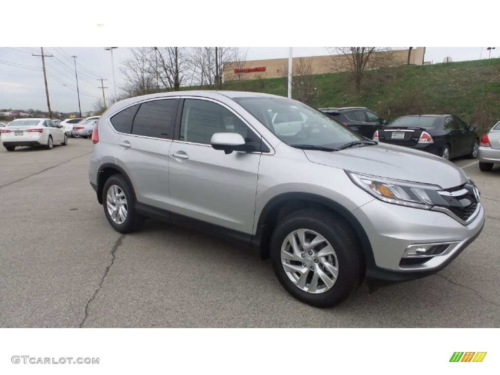 2015 CR-V EX AWD - Alabaster Silver Metallic / Black photo #1