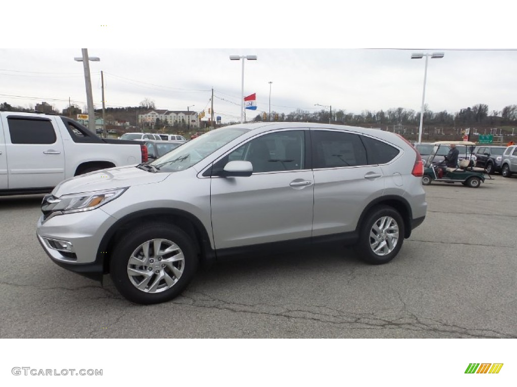 2015 CR-V EX AWD - Alabaster Silver Metallic / Black photo #4