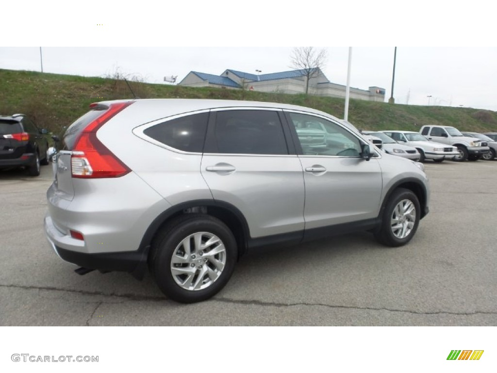 2015 CR-V EX AWD - Alabaster Silver Metallic / Black photo #7