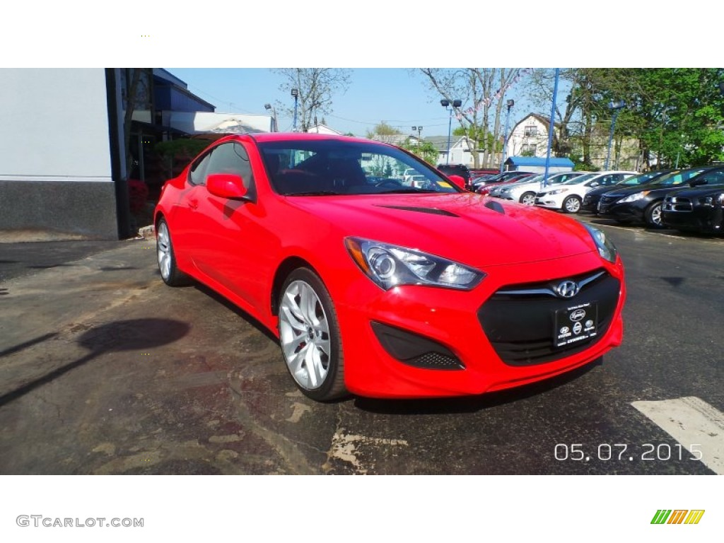2013 Genesis Coupe 2.0T R-Spec - Tsukuba Red / Red Leather/Red Cloth photo #1