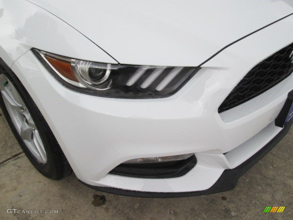 2015 Mustang V6 Coupe - Oxford White / Ebony photo #4