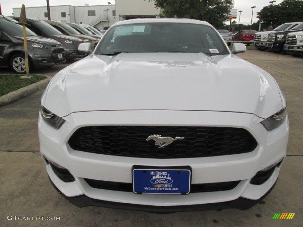 2015 Mustang V6 Coupe - Oxford White / Ebony photo #8