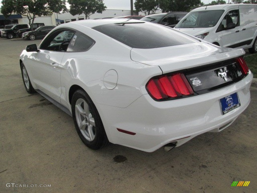 2015 Mustang V6 Coupe - Oxford White / Ebony photo #12