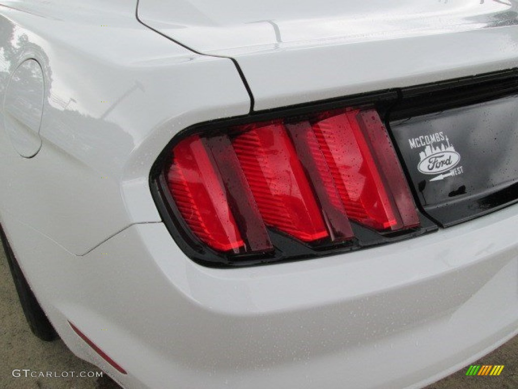 2015 Mustang V6 Coupe - Oxford White / Ebony photo #14