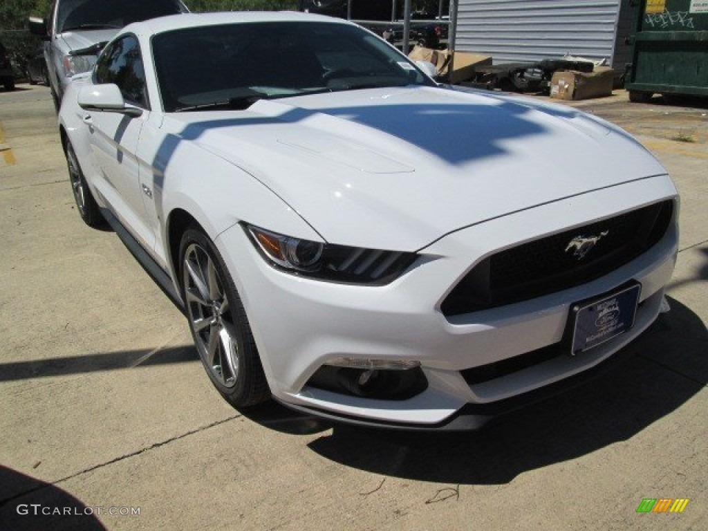 2015 Mustang GT Premium Coupe - Oxford White / Ebony photo #1