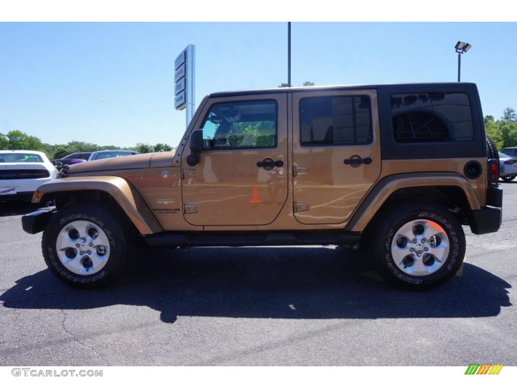 Jeep Sahara Black >> 2015 Copper Brown Pearl Jeep Wrangler Unlimited Sahara 4x4 #103902939 Photo #4 | GTCarLot.com ...