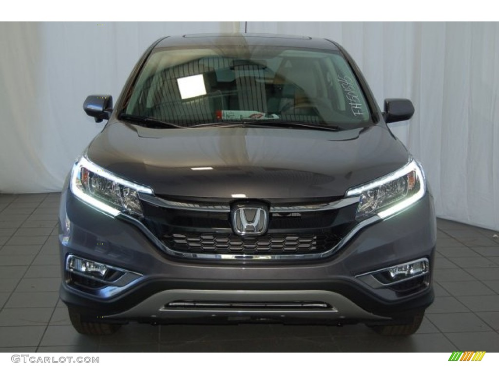 2015 CR-V EX - Modern Steel Metallic / Gray photo #3