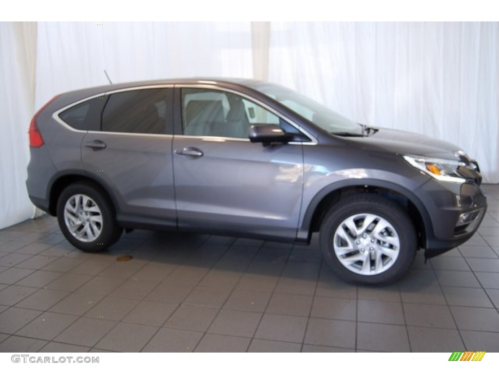 2015 CR-V EX - Modern Steel Metallic / Gray photo #5