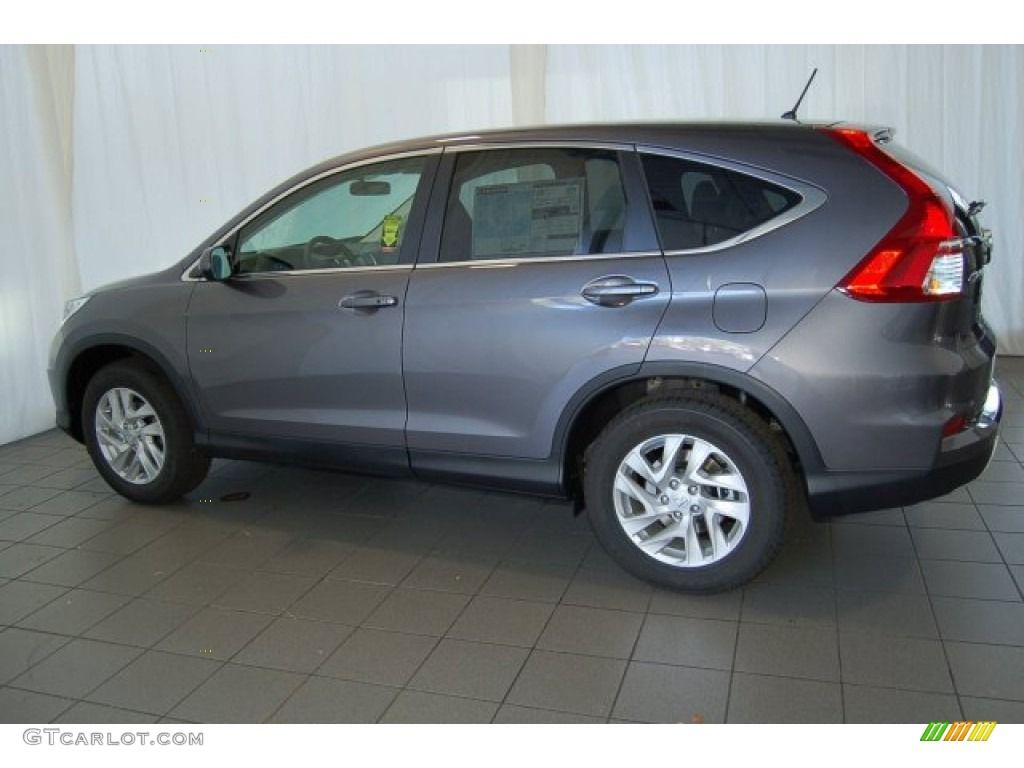 2015 CR-V EX - Modern Steel Metallic / Gray photo #8