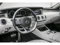 Crystal Grey/Black 2015 Mercedes-Benz S Interiors