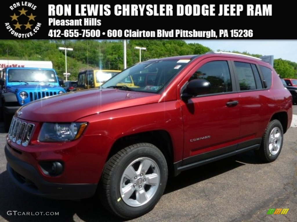 2015 deep cherry red crystal pearl jeep compass sport - 2016 jeep compass interior lights ...