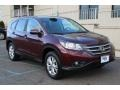 2012 Basque Red Pearl II Honda CR-V EX 4WD  photo #3