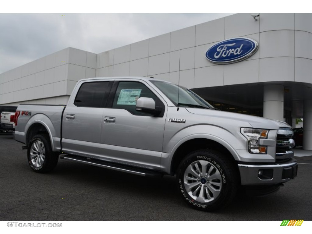 2015 Ingot Silver Metallic Ford F150 Lariat Supercrew 4x4