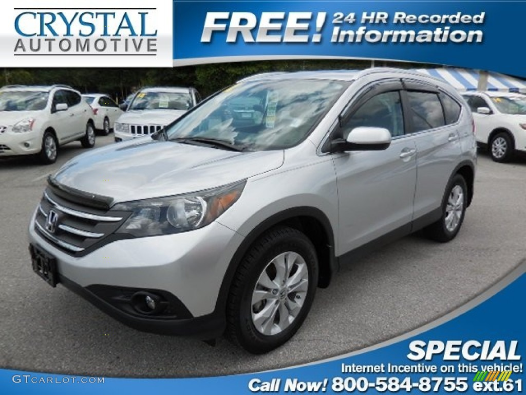 2012 CR-V EX-L - Alabaster Silver Metallic / Beige photo #1