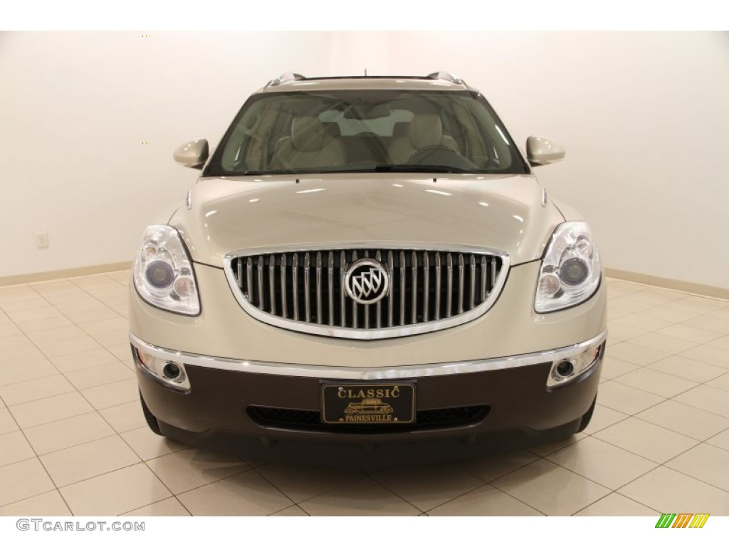 2009 Enclave CXL - Gold Mist Metallic / Cocoa/Cashmere photo #2