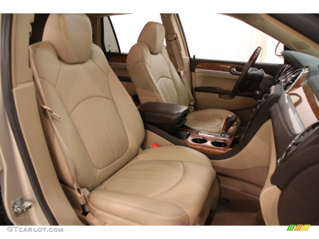 2009 Enclave CXL - Gold Mist Metallic / Cocoa/Cashmere photo #11