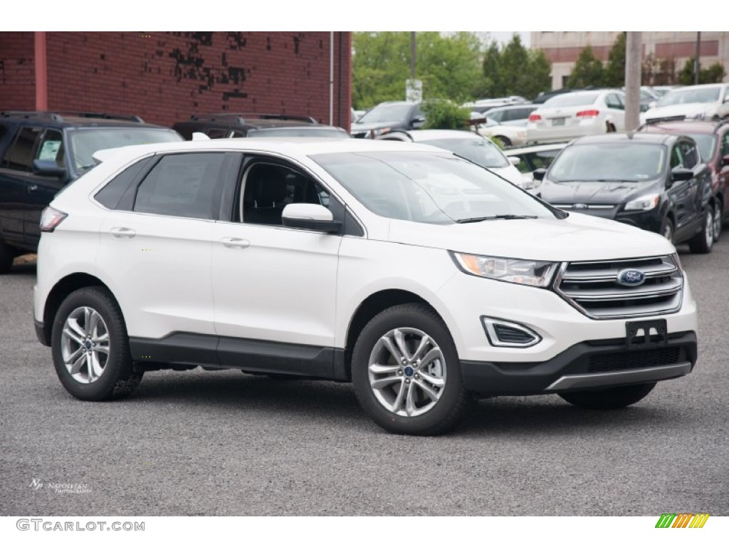 2015 white platinum metallic ford edge sel awd 104096072. Black Bedroom Furniture Sets. Home Design Ideas
