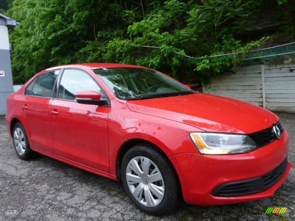 tornado red 2014 volkswagen jetta se sedan exterior photo 104112448. Black Bedroom Furniture Sets. Home Design Ideas